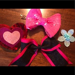 Girl's Glitter Sequin Hair Bows Clips Accessories